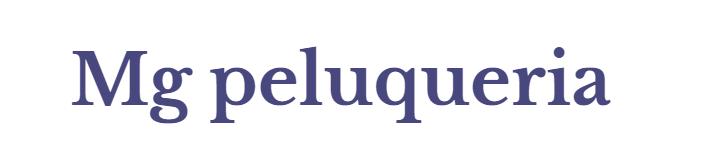 Logo MG Peluquería