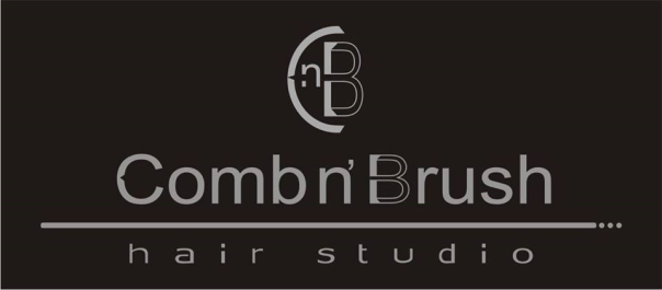 Logo Comb n brush hair studio